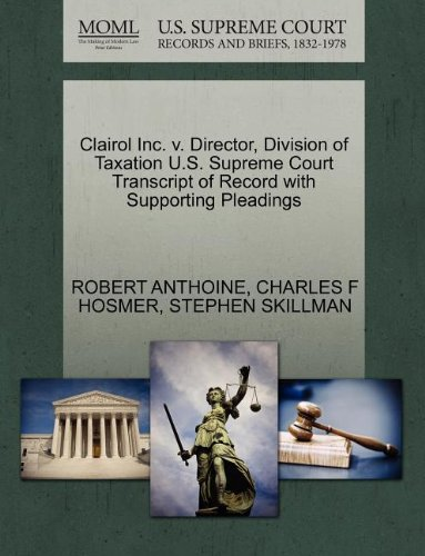 clairol-inc-v-director-division-of-taxation-us-supreme-court-transcript-of-record-with-supporting-pl