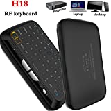 Wireless Handheld Keyboard, Penkou H18 Android TV Air Remote Mouse 2.4GHz Whole Panel Touchpad Mini Keyboard for Smart TV Android TV Box PC Laptop (Not backlight)