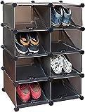 Markenlos Schuhregal 16Paar Schuhe Systemregal 8Boxen Kunststoff Stecksystem Regal
