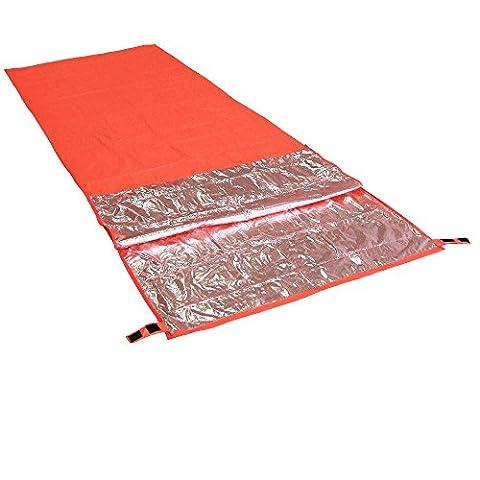 200 * 72cm Mini Ultral¨¦ger Largeur Enveloppe Sac Pour Camping Randonn¨¦e Escalade Dormir Simple Sac de couchage vous garder au chaud + Pouch
