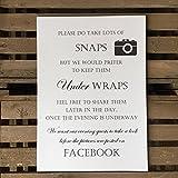 Wedding a4 Sign - No Photos On Social Media