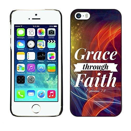 ouucase Coque rigide pour iPhone 5/5S-Grace à travers Faith-éphésiens 2