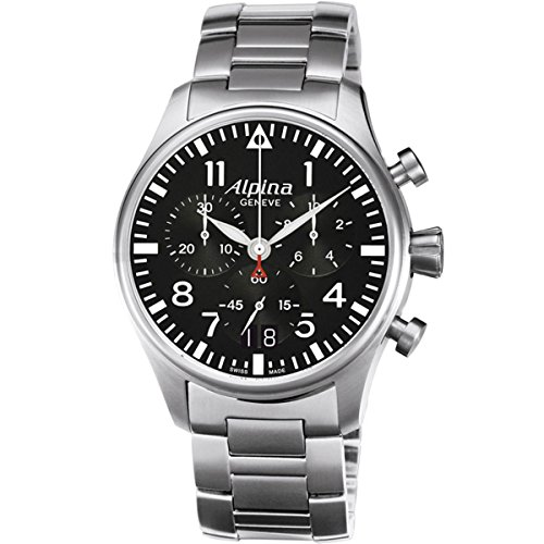 Alpina Herren-Armbanduhr Chronograph Quarz Edelstahl 372B4S6B