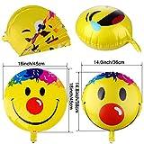 PovKeever Emoji Party Luftballons 18 Inch Folie Helium Ballons für Happy Birthday Hochzeiten Party Jubiläumsbedarf Dekorationen, Packung von 32 Test