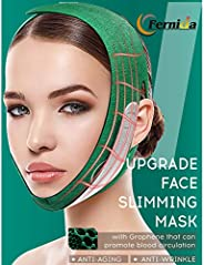 Facial Slimming Strap,FERNIDA Double Chin Lifting Belt Graphene V Line Face Lift Up Band, Anti Wrinkle Elimina