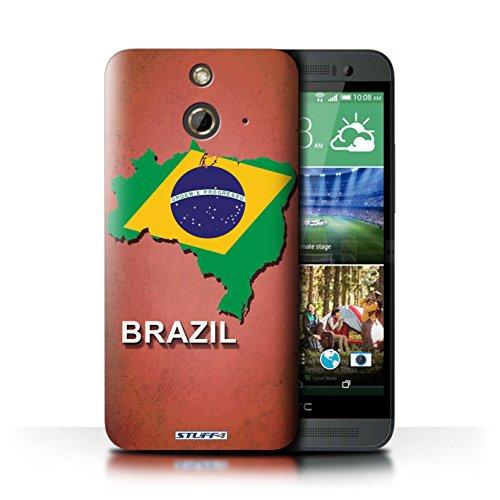 Kobalt® Imprimé Etui / Coque pour HTC One/1 E8 / Amérique/Américain/USA conception / Série Drapeau Pays Brésil