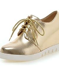ZQ hug Zapatos de mujer-Tacón Robusto-Tacones / Puntiagudos-Tacones / Oxfords-Oficina y Trabajo / Vestido / Casual-Semicuero-Negro / Rojo / Gris , red-us11.5 / eu43 / uk9.5 / cn45 , red-us11.5 / eu43 / uk9.5 / cn45
