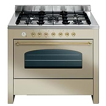 Bompani BO684SC/N Autonome Cuisinière à gaz Ivoire four et cuisinière - fours et cuisinières (Cuisinière, Ivoire, Rotatif, Devant, Acier inoxydable, Mécanique)