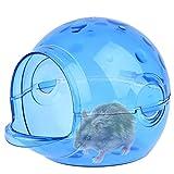 Petacc Hamster Badezimmer Umweltfreundlich Hamster Bad Sand Raum Badewanne Zimmer für Hamster und Kleintier (Blau)