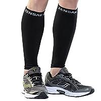Zensah Compression Leg Sleeve, Black L/Xlarge