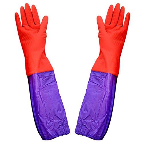 1 Paar Aquarium Wasser Ändern Lange Handschuhe mit Dicht Elastic Sealed Unterarm für Aquarium Reinigungszubehör