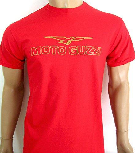 Preisvergleich Produktbild Moto-Guzzi-T-Shirt, mit Logo auf der Brust, rot, Größe: XL, verschiedene Größen und Farben verfügbar