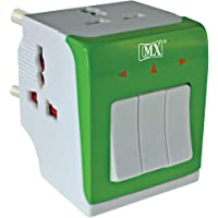 MX 3-in-1 Universal Travel Adapter Multi-Plug with Individual Switch (Multicolour)