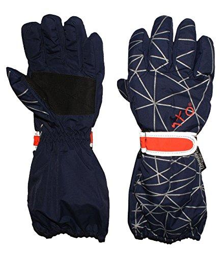Unbekannt Fingerhandschuhe mit langem Schaft - dunkelblau - Thermo gefüttert Thermohands..