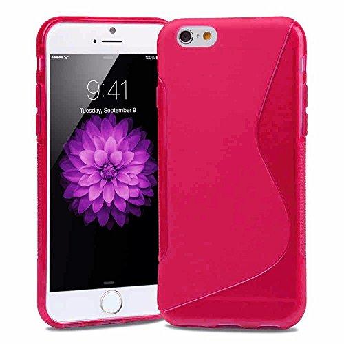 Slim S-LINE TPU Silikon Schutzhülle 11,9 cm (4,7 Zoll)  für Apple iPhone 6 Schale Vollfarbig weiß Pink