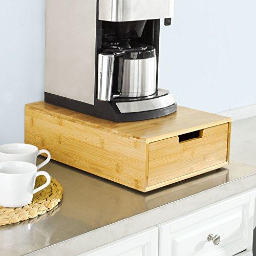 SoBuy® Kaffeekapsel Box,Kapselspender,Schreibtischorganizer,Monitorständer,Monitorerhöhung,FRG83-N