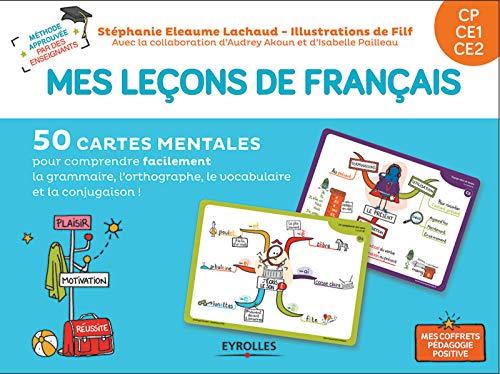 Mes leçons de français CP  CE1  CE2: 50 cartes mentales pour comprendre facilement la grammaire, l'orthographe, la conjugaison et le vocabulaire. 1 livret explicatif par Isabelle Pailleau