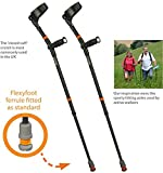 Flexyfoot Closed Cuff Crutches with Soft Grip Handle - Pair