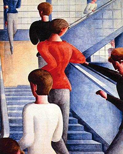1art1 117081 Oskar Schlemmer - Bauhaustreppe, 1932 Poster Kunstdruck 50 x 40 cm