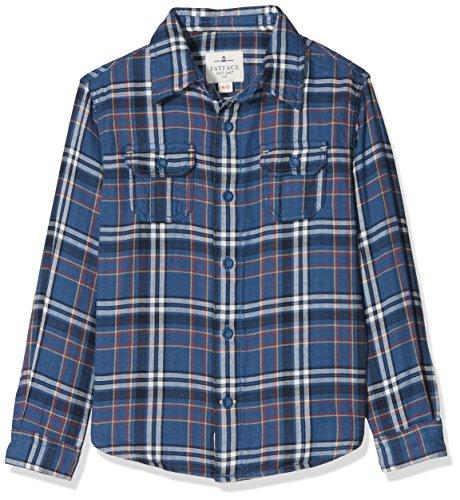 Fat Face Jungen Hemd Bramber Check, Blue (Slate Blue Blu), 12-13 Jahre (Blu-hemd)
