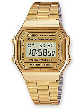Casio's classic retro Uhr Chrono Alarm Leuchtdichte in Gold-Digital A168WG 9WDF