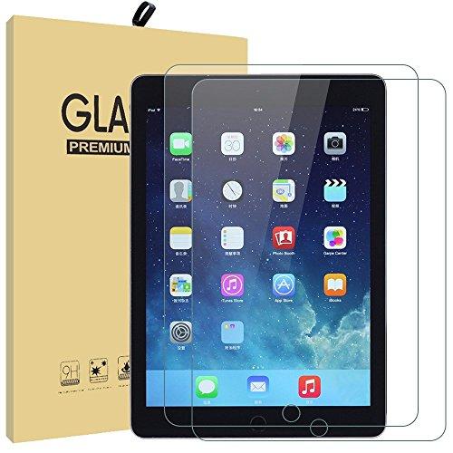 Neue iPad 24,6cm 2017Displayschutzfolie, ailrinni ultraklare Sekuritglas Displayschutzfolie Cover Film für Neue iPad 2017/Apple iPad Pro 9,7/Air/iPad Air 2, 9H Härte und einfache blasenfreie Installation 2er-Set New iPad 2017 / 9.7 / Air / Air 2