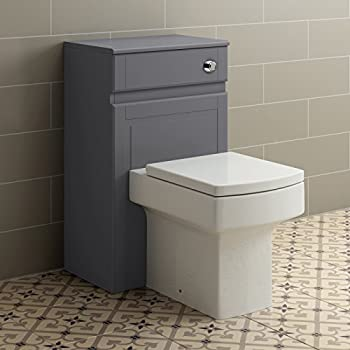 500mm Grey Back To Wall Toilet Concealed Cistern Housing ...