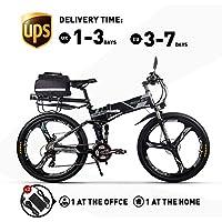 RICH BIT Elektrofahrräder 36V 12.8A Li-Batterie Faltrad MTB Mountainbike E Bike 26 Zoll Shimano 21 Speed Fahrrad intelligente Elektrofahrrad RT860