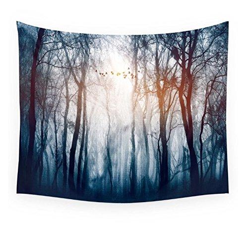 Dremisland Sonnenuntergang Wald Ozean Berge Wandbehang Tapisserie Natur Hausdekorationen Wandteppich zum Wohnzimmer Schlafzimmer Dekor in 150 X 130cm (Sonnenuntergang Wald)