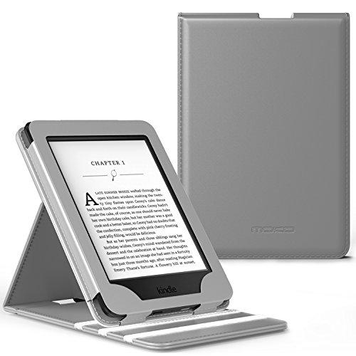 MoKo Kindle Paperwhite Hülle - Vertikal Flip Kunstleder Ständer Schutzhülle Smart Cover mit Auto Sleep/Wake für Alle Kindle Paperwhite, Rot (6 Für Tablet Zoll Tasche Kinder)