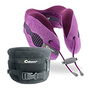 Cabeau Evolution Cool - The Best Air Circulating Head and Neck Memory Foam Cooling Travel Pillow - Cosmos