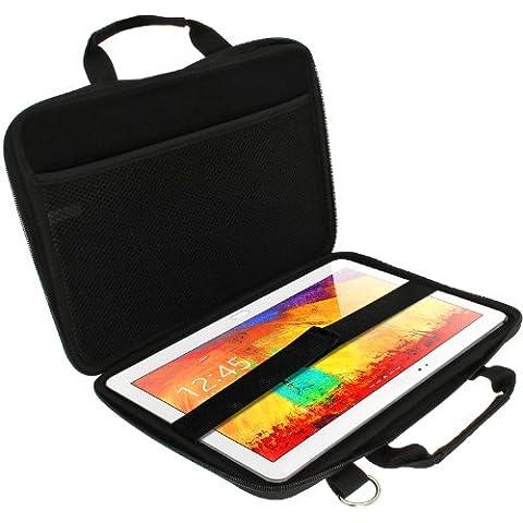 igadgitz Negro EVA Funda Carcasa Case Cover Duro Con Bandolera para Samsung Galaxy Tab Pro 12.2 SM-T900 SM-T905 & Note Pro 12.2 SM-P900 P905
