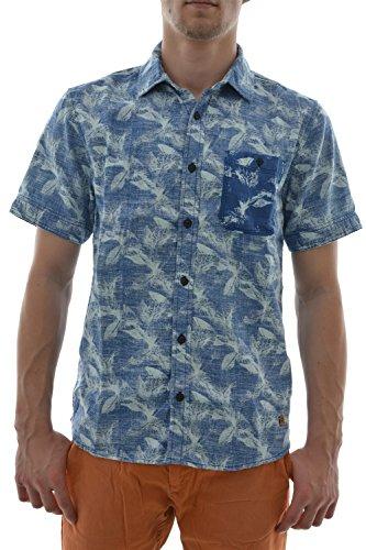 Camicia a maniche corte, petrol industries sis441 shirt ss, colore: blu blu X-Large