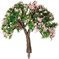 SODIAL(R) 5pzs Modelo de escena de diseno ornamento maceta casa de munecas en miniatura arboles de flores Decoracion DIY artesania 6cm