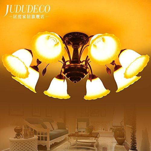 Khskx lampada da soffitto,8 americani soggiorno lampadario rustico mediterraneo orientale-stile semplice di stile europeo e in ferro battuto di luce a soffitto 850*310mm