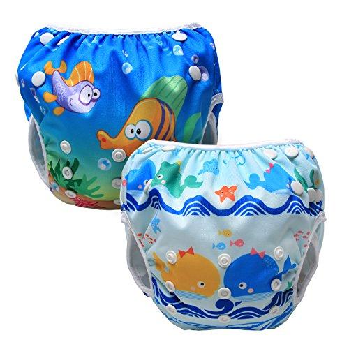Luxja Pañal de Natación para bebes Bañador Reutilizable de Nadar de Bebé Pañal lavable para Bebé...
