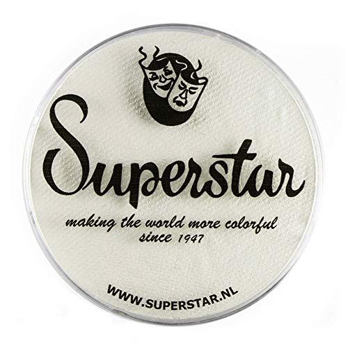 Unbekannt Superstar Gesicht Paint - Skull White 022, hypoallergen, Glutenfrei & Cruelty Free - Kinderfreundlich, ideal für Messen, Karneval, Party & Halloween-Malerei (45 g)