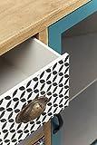 Kare 80998 Hochkommode Visible Capri Möbel, Holz, braun / blau / grau / weiß / schwarz, 34 x 60 x 85 cm