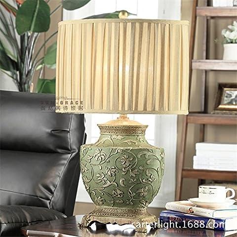 Escultura American retro salón dormitorio estudio clásico estilo hotel de lujo continental lámparas de mesa, lámparas de mesa decorativas 460*710mm