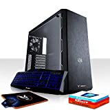 Fierce Maniac Gaming PC Bundeln - Schnell 3.6GHz Quad-Core Intel Core i3 8100, 1TB Festplatte, 16GB 2666MHz, AMD Radeon RX 550 2GB, Windows 10 installiert, Tastatur (QWERTZ), Maus 1066541