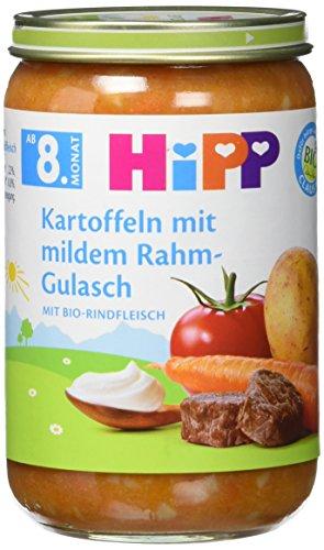 Hipp Kartoffeln mit mildem Rahm-Gulasch mit Bio-Rindfleisch, 220 g