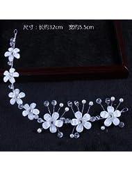 &zhou Collar de pelo nupcial de la joyería del pelo a mano Accesorios del vestido de boda , 12#