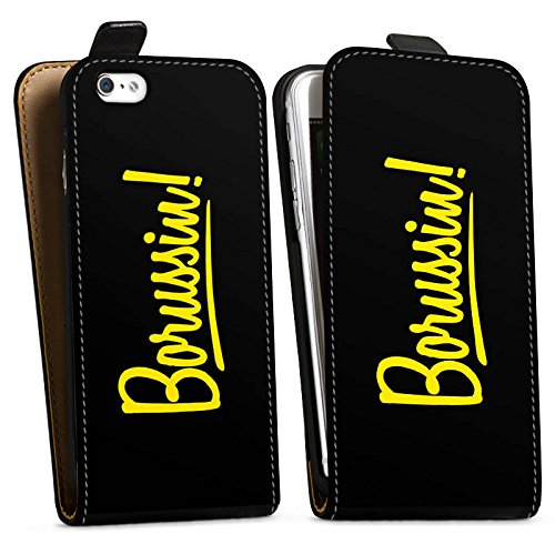 Apple iPhone 7 Silikon Hülle Case Schutzhülle Borussia Dortmund Borussin Fanartikel Downflip Tasche schwarz