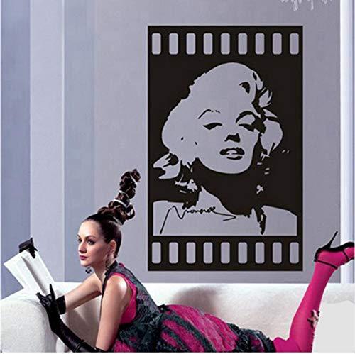 Wandaufkleber marilyn monroe wandtattoos vinyl aufkleber raumdekor Star Poster Kunstwand Zimmer Dekoration 35x60 cm