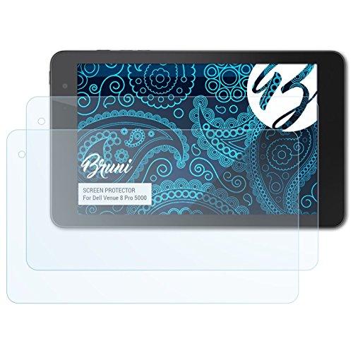 Bruni Schutzfolie kompatibel mit Dell Venue 8 Pro 5000 Folie, glasklare Bildschirmschutzfolie (2X)