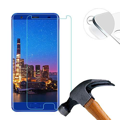 2 X Pack Hart Panzerglasfolie Schutzfolie für Oukitel K8000 5.5 Zoll Tempered Glass Folie Screen Protector Panzerfolie Glasfolie(Nur den flachen Teil abdecken)