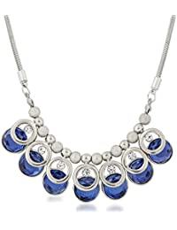 Vk Jewels Wedding Collection Silver Brass Alloy Necklace Set For Women Vknks1293R