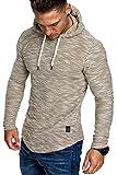 Amaci&Sons Herren Kapuzenpullover Hoodie Sweater Pullover Sweatshirt 4012 Sand L