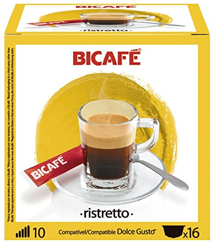 Find 96 (6x16 Capsule Packs) BiCafe ® Ristretto Dolce Gusto ® Compatible Coffee Capsules from BiCafe