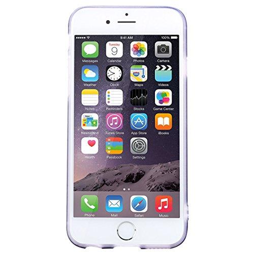 WE LOVE CASE iPhone 6 / 6s Hülle Marmor Rosa iPhone 6 / 6s Hülle Silikon Weich Marble Handyhülle Tasche für Mädchen Elegant Backcover , Soft TPU Flexibel Case Handycover Stoßfest Bumper , Ultra Dünn S Black